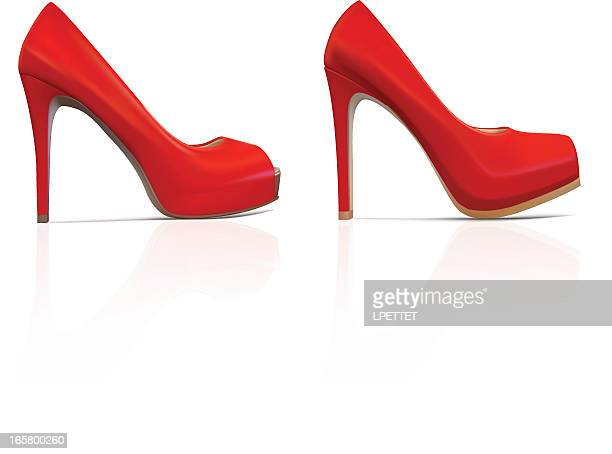 Red High Heels - Vector Illustration
