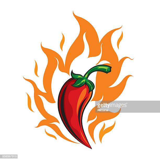 red hot chili pepper - red chili pepper stock illustrations, clip art, cartoons, & icons