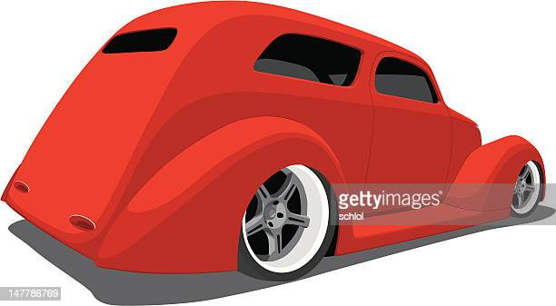 red hot rod - low rider stock illustrations