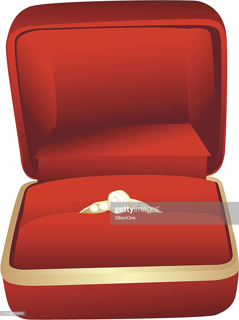 Red Jewelry Box With Ring Vector Art Getty Images