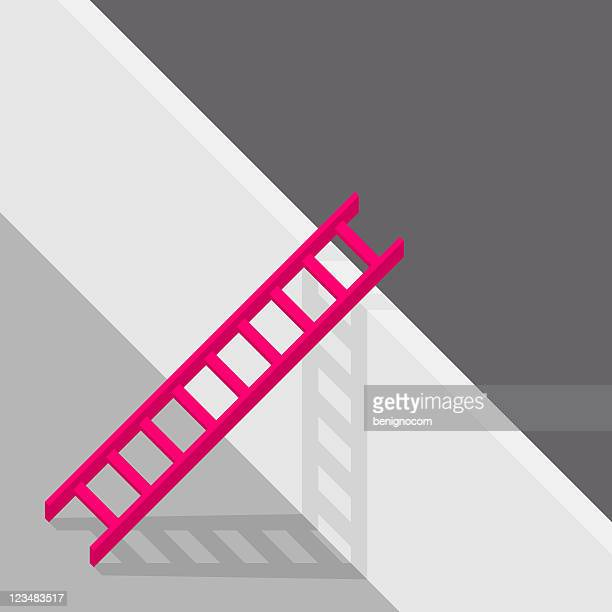 red ladder - concrete wall stock illustrations, clip art, cartoons, & icons