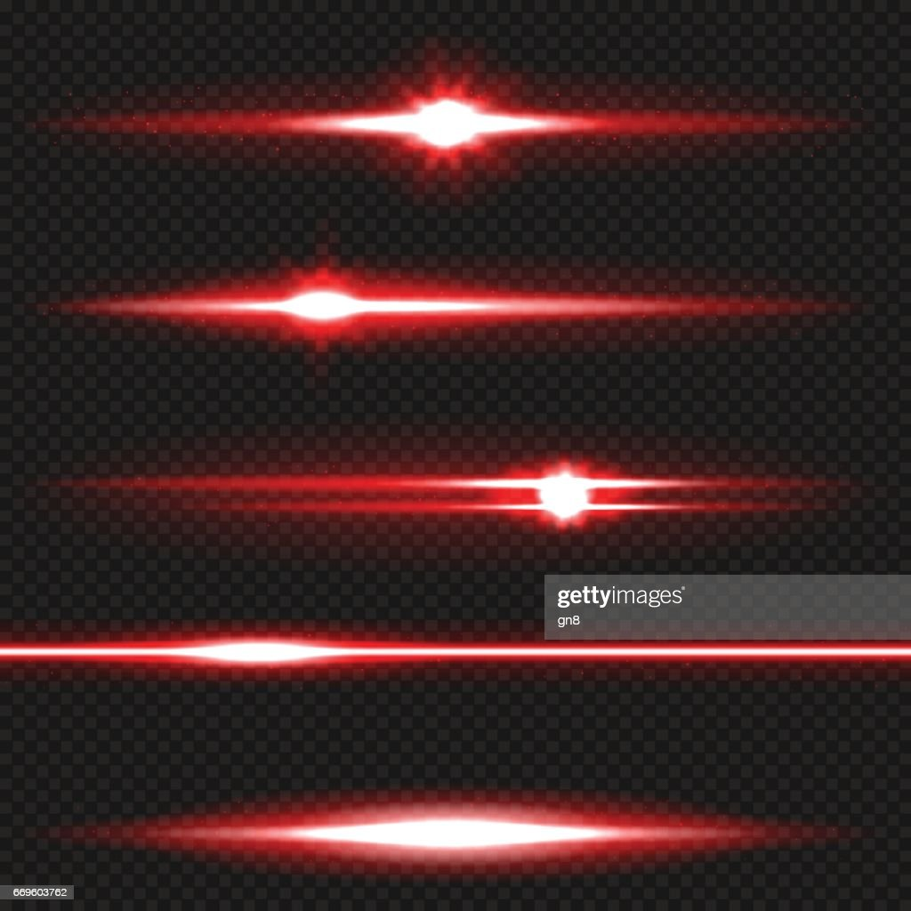 Red laser beams pack