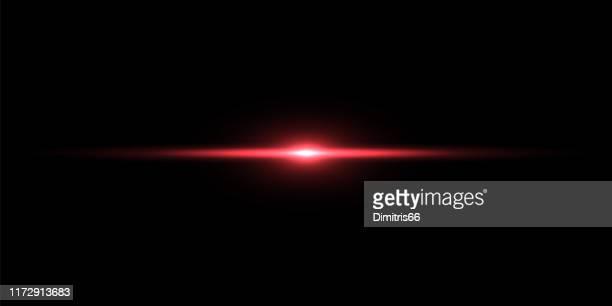 red light beam on black background - light effect stock illustrations
