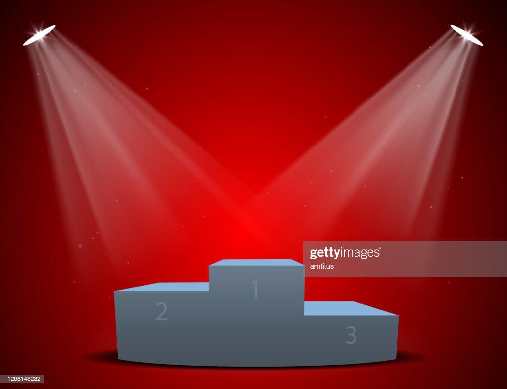 red lighted podium : Stock Illustration