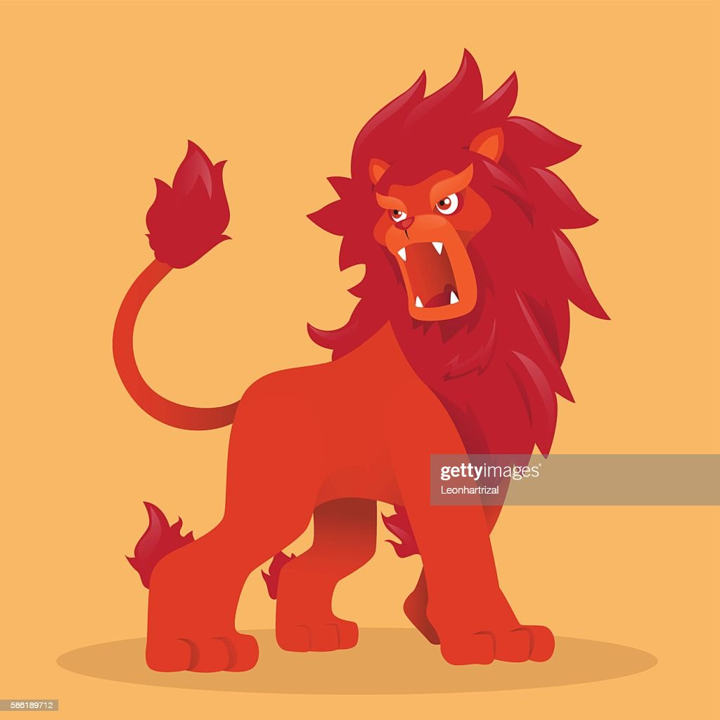 Red lion mascot