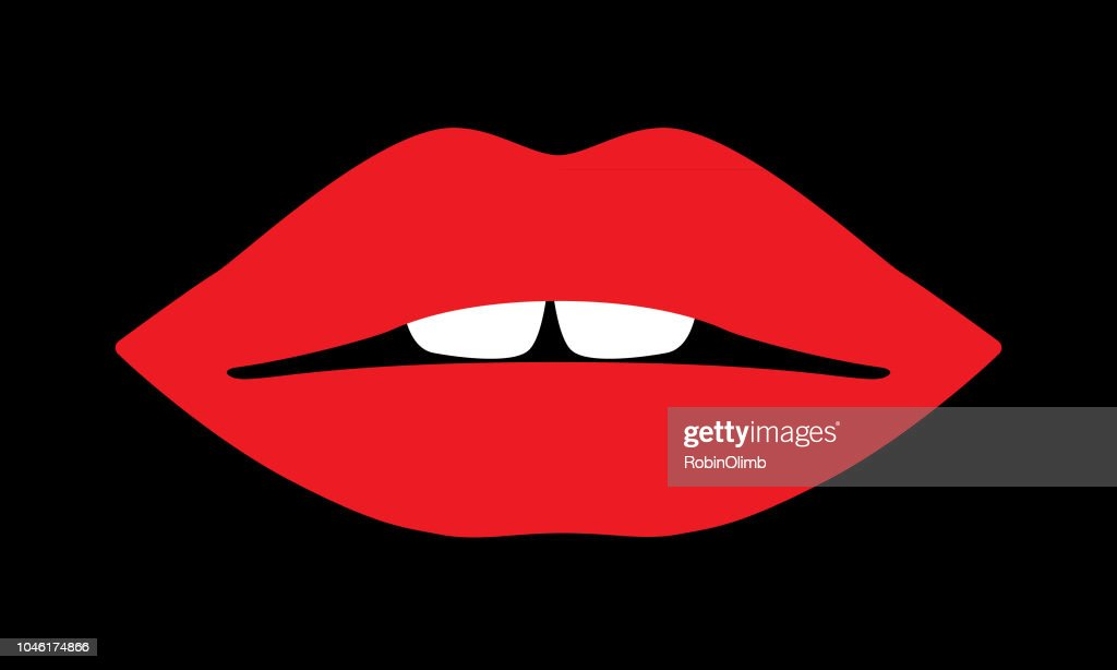 Red Lips Icon : stock illustration