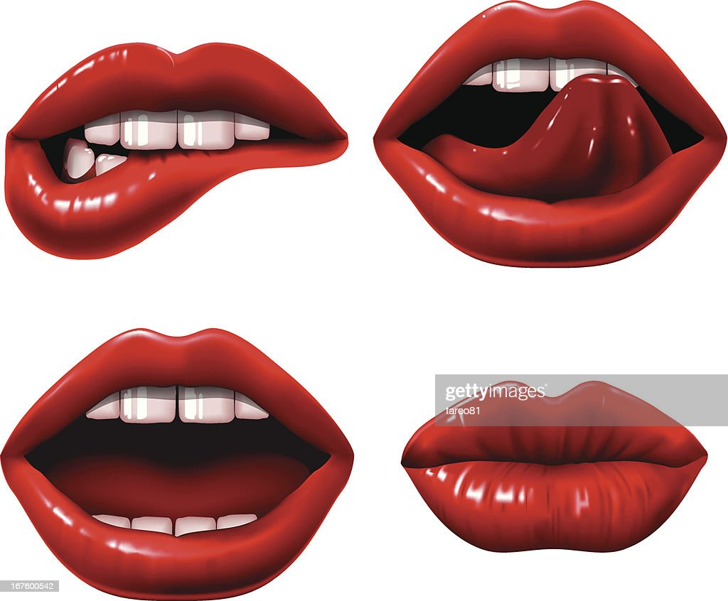 Red Lippen : Stock-Illustration