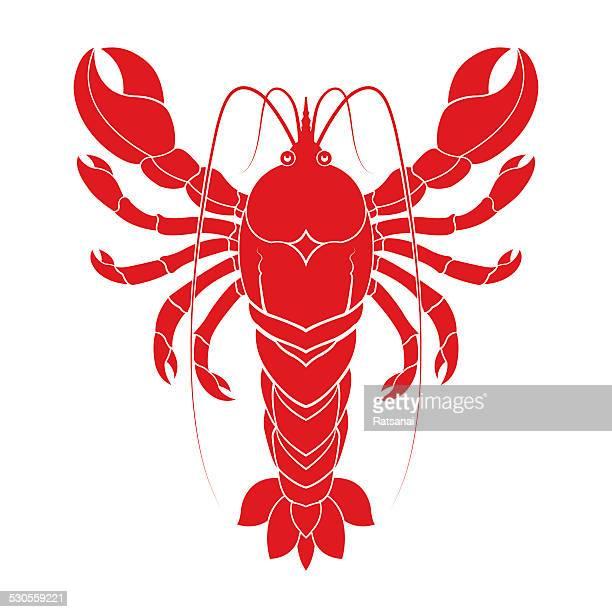 red lobster - red lobster restaurant stock illustrations