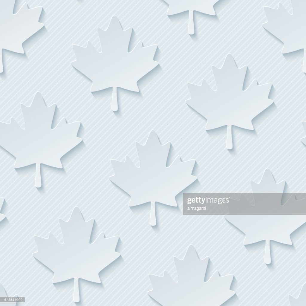 Red maple leaves seamless wallpaper pattern.