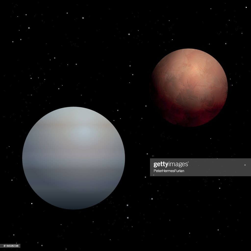 Red Mars And Grayblue Venus Symbols For Male And Female Gender
