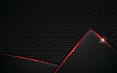 red metallic frame design steel pattern template sports concept background