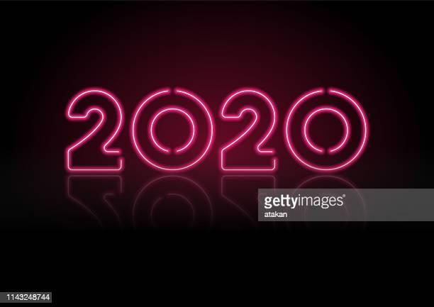 2020黒い壁に赤いネオンライト - 2020年点のイラスト素材/クリップアート素材/マンガ素材/アイコン素材