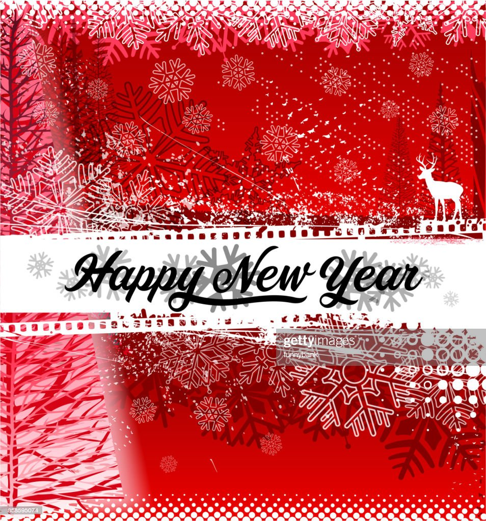 red new year banner vector art