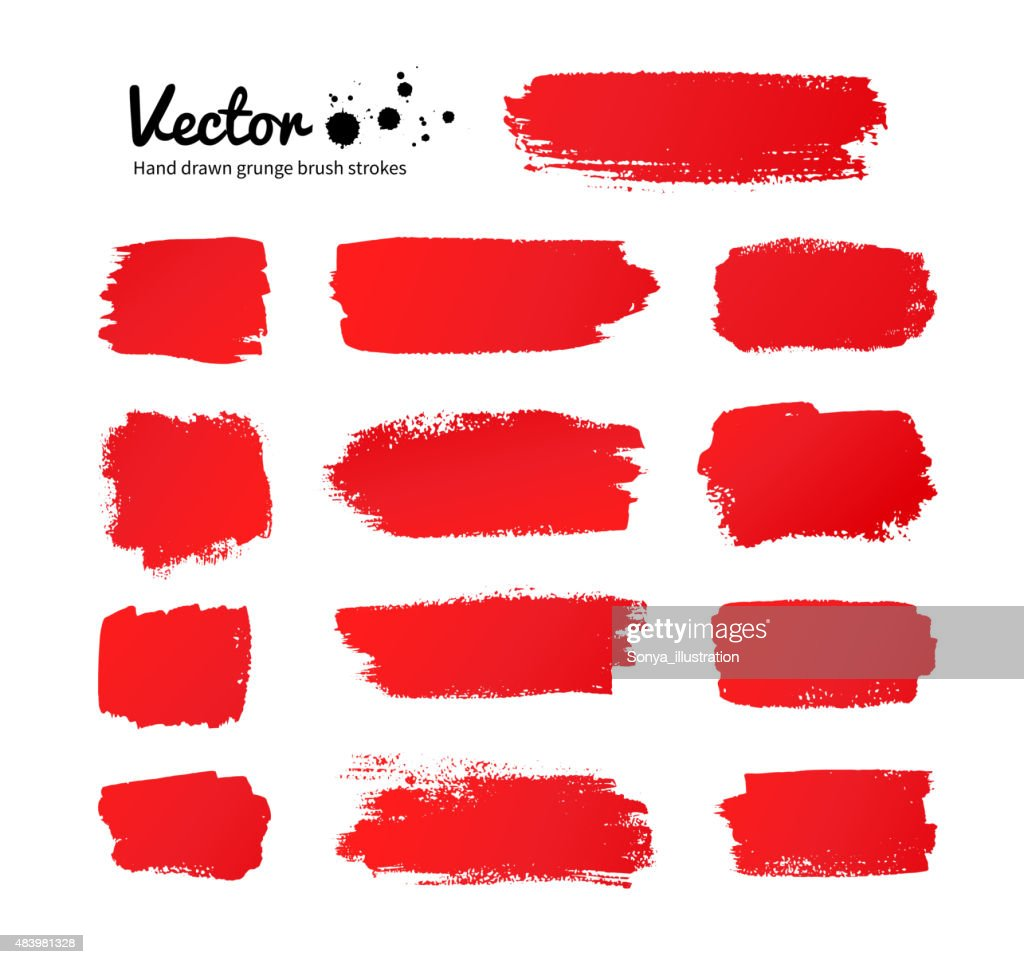 Red paint brush strokes.