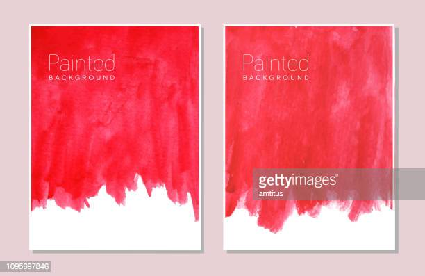 red paint - paint textures stock illustrations
