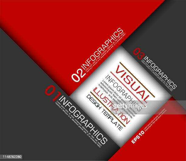 red paper geometric infographics in camera aperture style - aperture stock illustrations, clip art, cartoons, & icons
