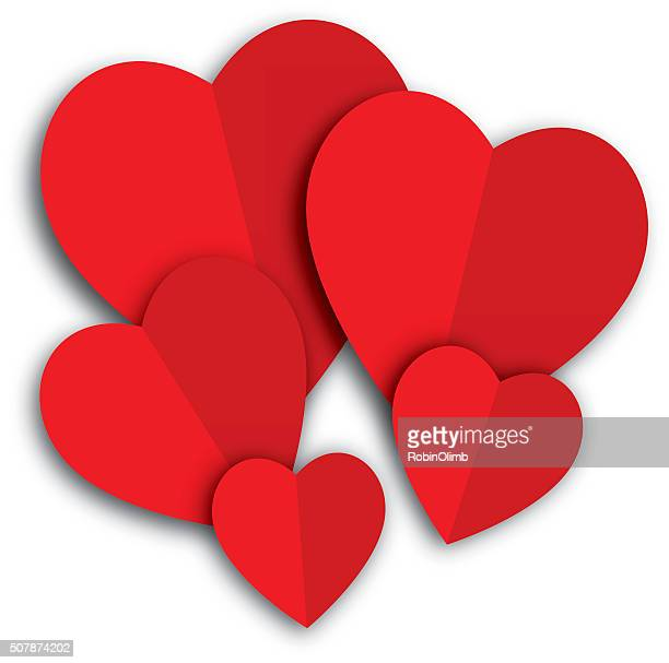 Red paper Hearts