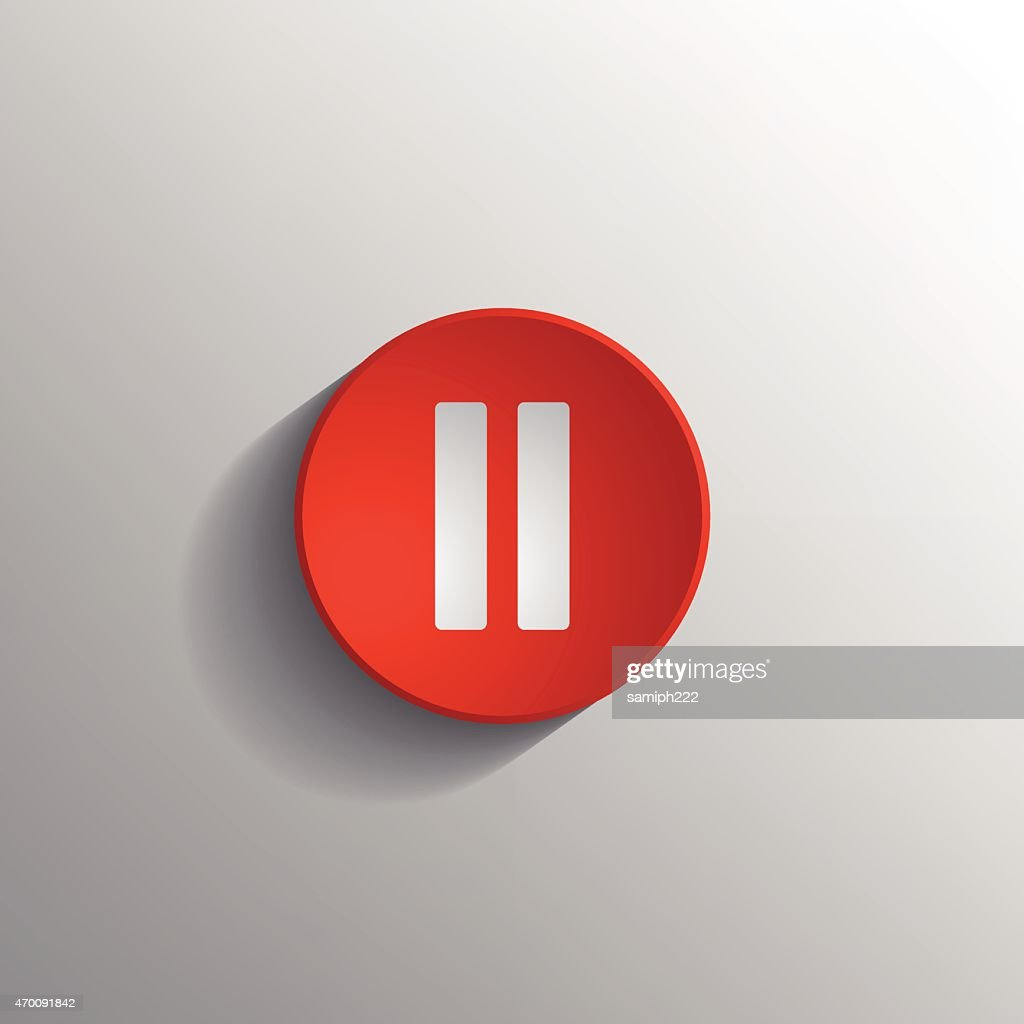 red Pause icon .