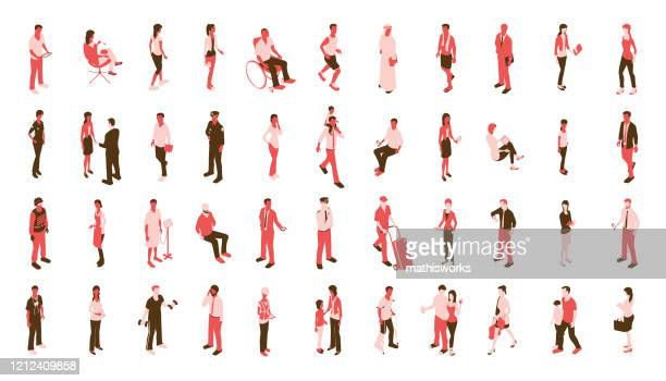 red people icons stock illustration - mathisworks stock illustrations