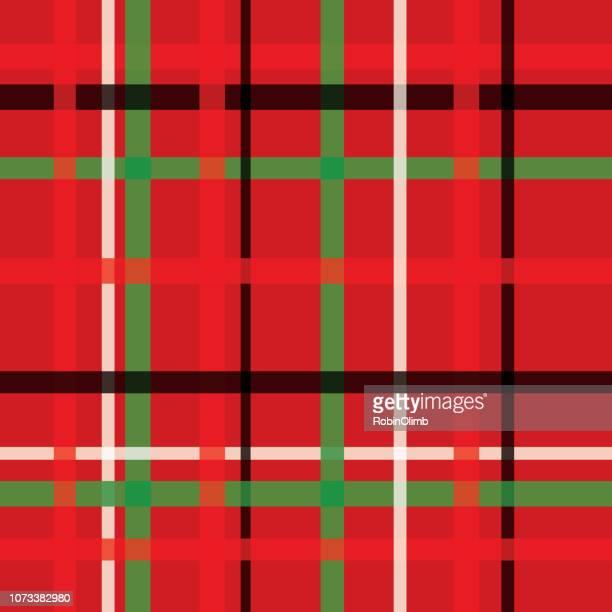 赤の格子柄のシームレス パターン - タータンチェック点のイラスト素材/クリップアート素材/マンガ素材/アイコン素材