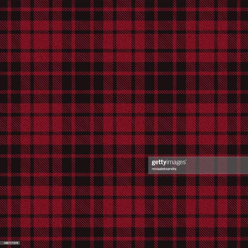 Red plaid tartan fabric 4