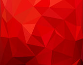 Red Polygonal Mosaic Background