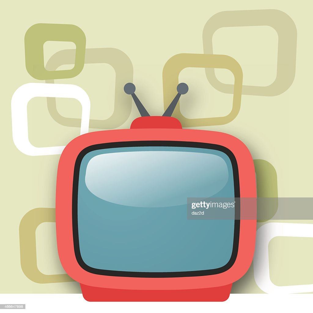 Red Portable Television