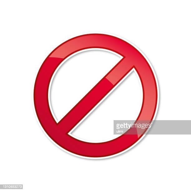 赤い禁止サイン - 待避所標識点のイラスト素材/クリップアート素材/マンガ素材/アイコン素材