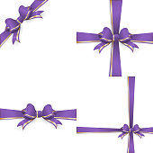 Red purple bow templates. EPS 10