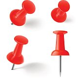 Red push pins.