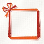 Red ribbon made into a frame