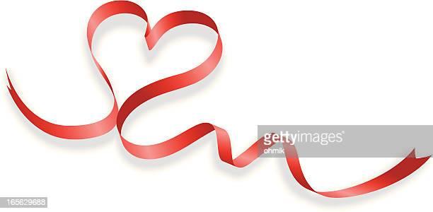 Ribbon en forma de corazón