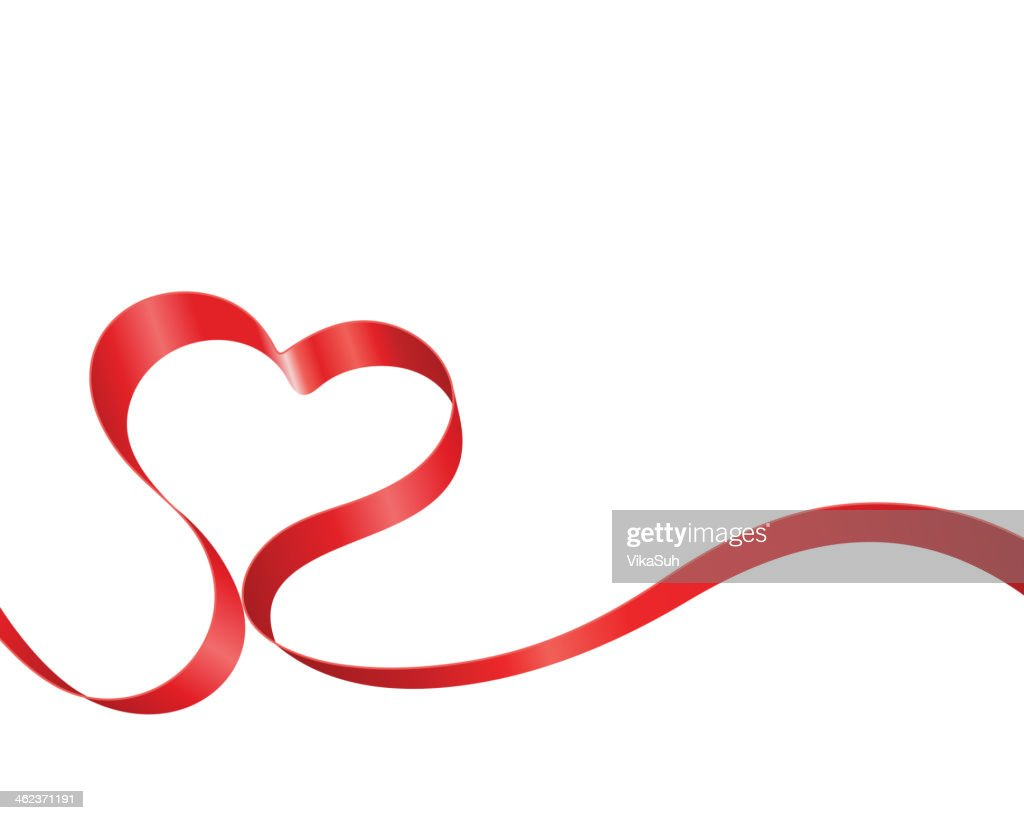 A red ribboned heart for Valentine's Day