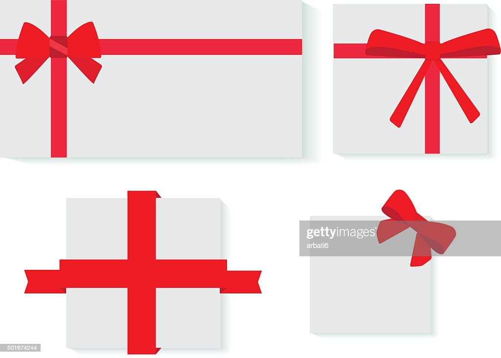 red ribbons gifts