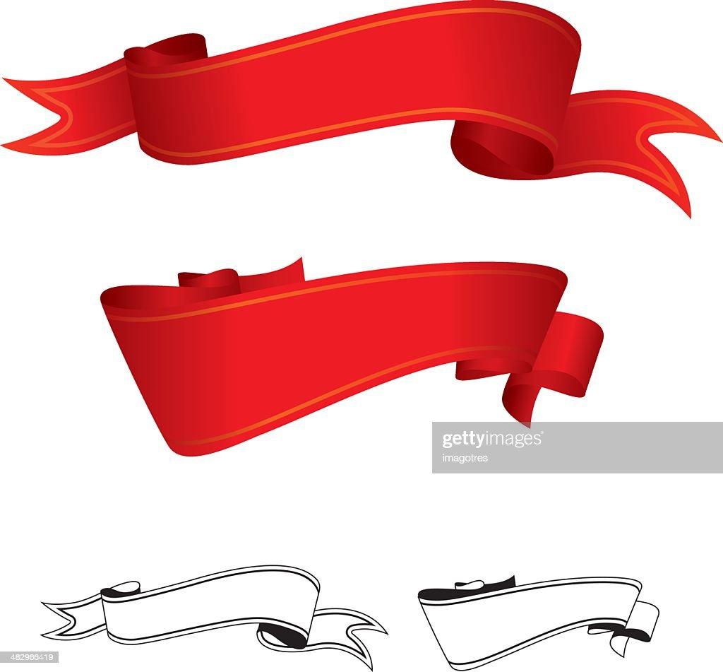 Red Ribbons Set.