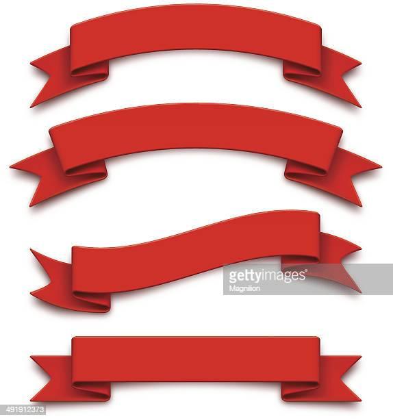 red ribbons - ribbon sewing item stock illustrations, clip art, cartoons, & icons