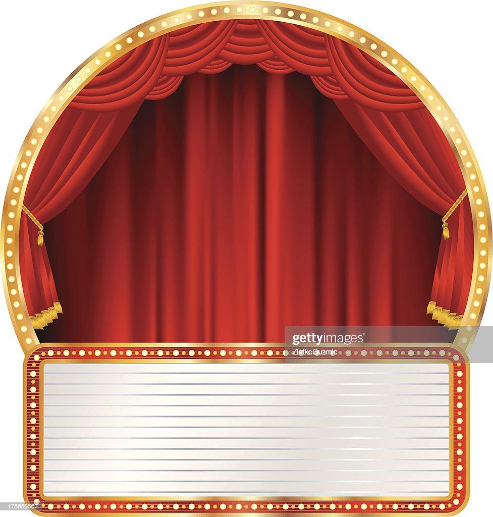 red round stage billboard