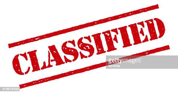 透明な背景の赤いゴムのスタンプ アイコン - クラシファイド広告点のイラスト素材/クリップアート素材/マンガ素材/アイコン素材