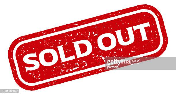 red rubber stamp icon on transparent background - sold out stock illustrations