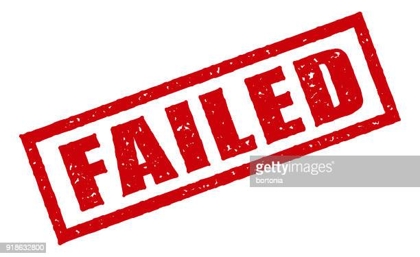 red rubber stamp icon on transparent background - failure stock illustrations