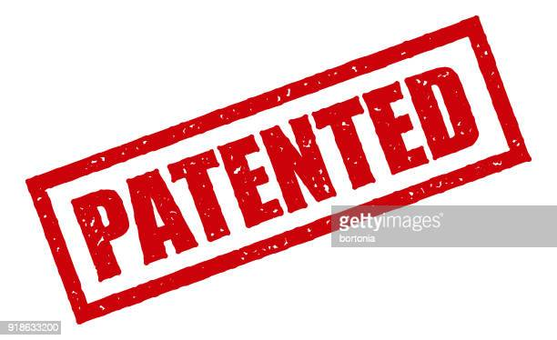 red rubber stamp icon on transparent background - legal document stock illustrations, clip art, cartoons, & icons