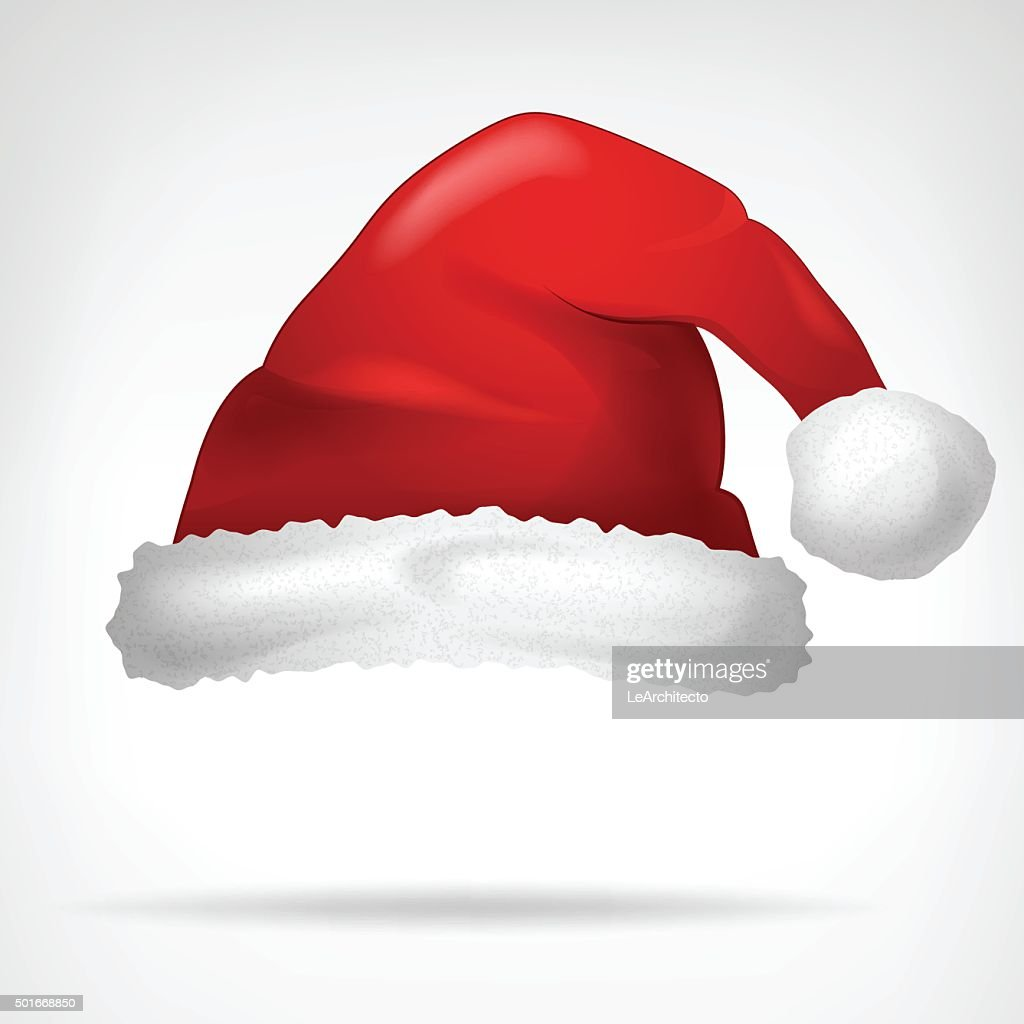 red santa hat isolated on white vector