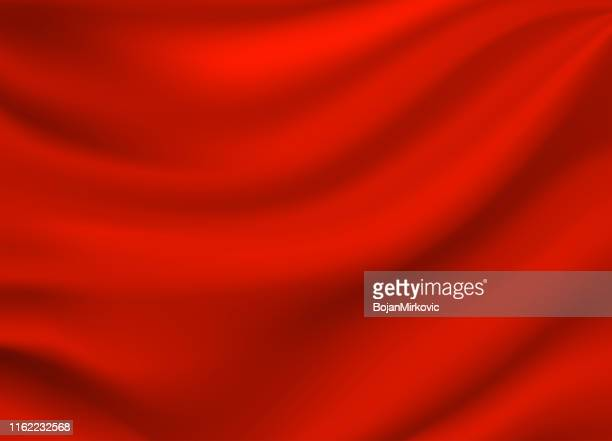 red satin silk background. vector - red stock illustrations
