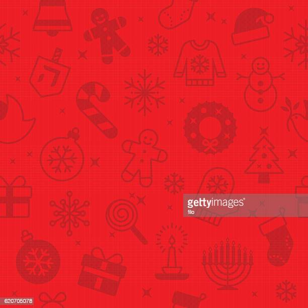 Red Seamless Christmas and Holidays Background