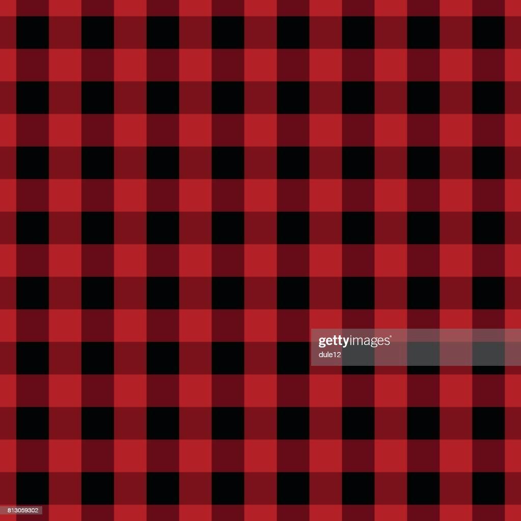 Red Seamless Lumberjack Pattern