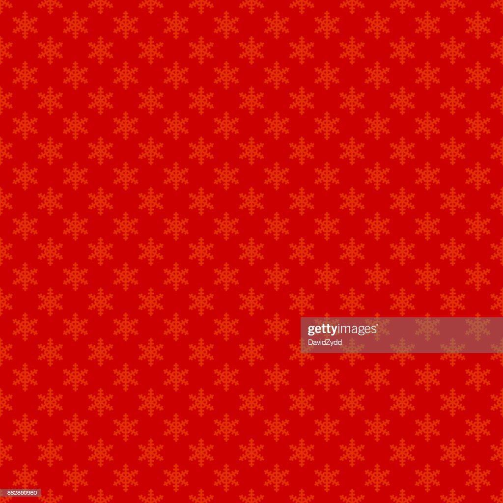 Roten Nahtlose Einfache Geometrische Schneeflocke Muster Tapete ...