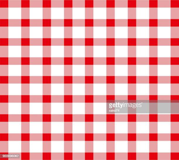 red seamless tablecloth pattern - picnic blanket stock illustrations, clip art, cartoons, & icons
