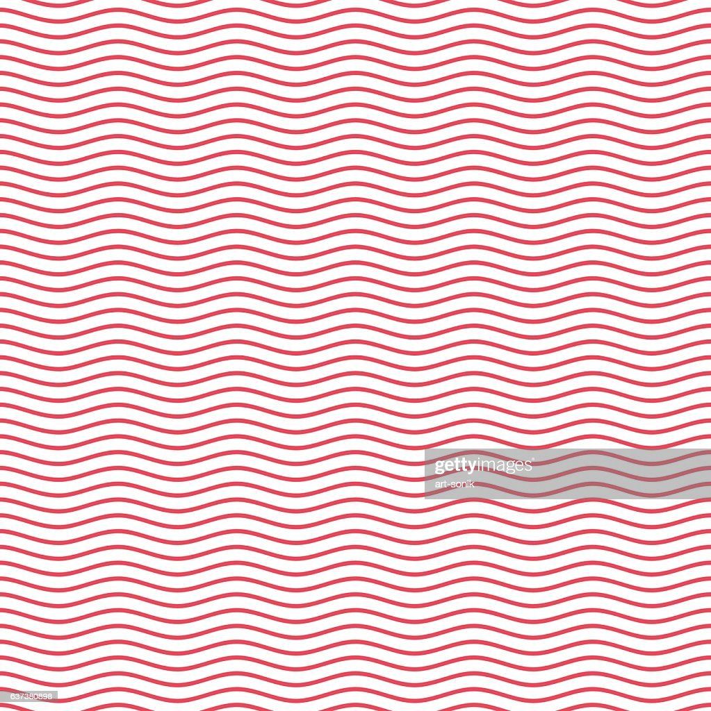 Red seamless wavy line pattern.