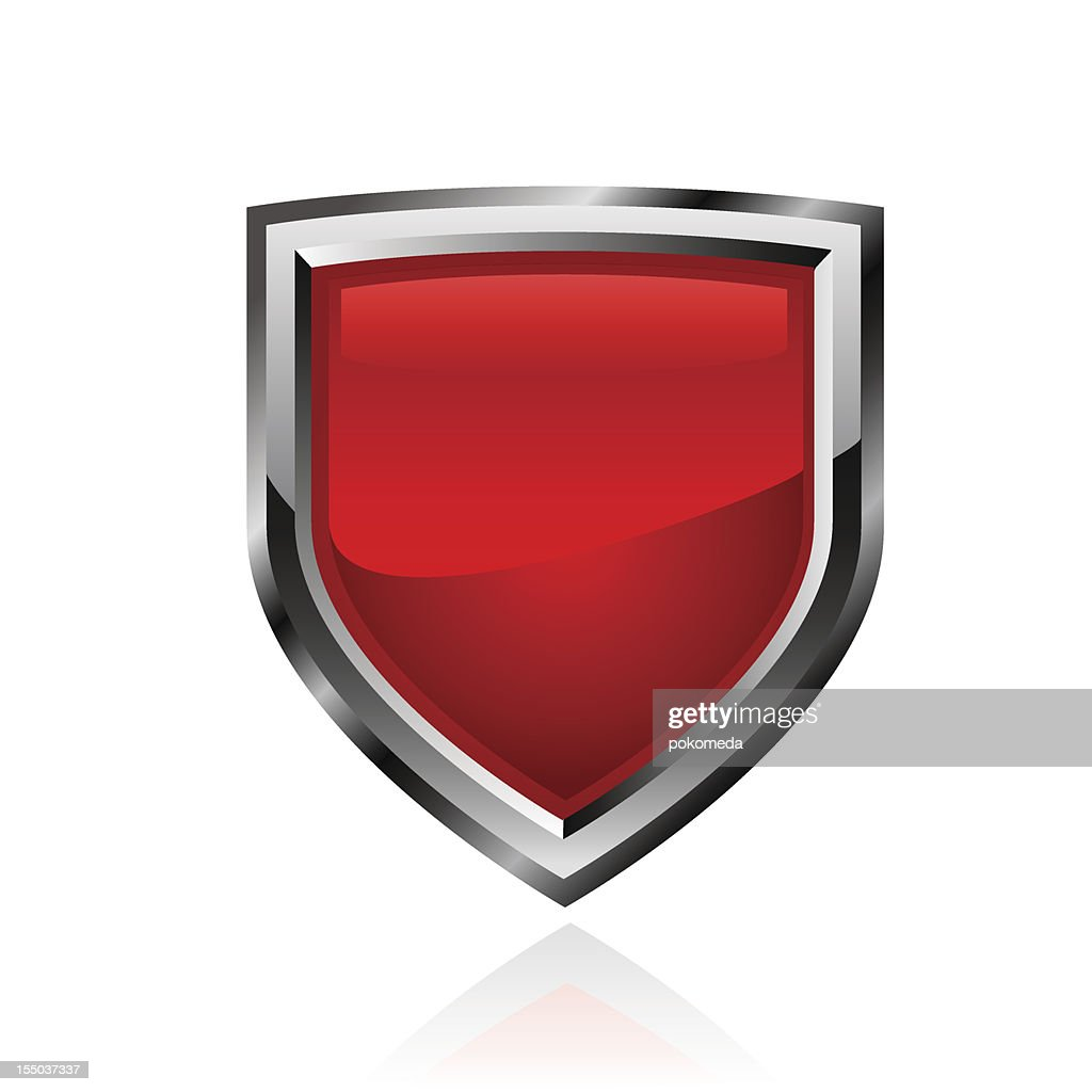 Red shield. Vector