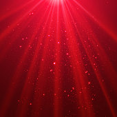 Red shining light top magic abstract
